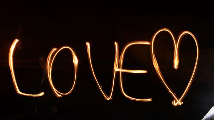 Light painting - love