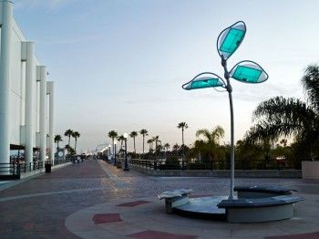 Solar Energy-generating, Artistic 'Tree' Sculpture Takes Root at Long Beach Convention Center