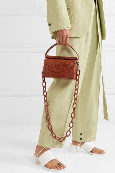 dd1c8ab70e6 Gu_de - Milky croc-effect leather tote in 2019 | Bags | Bags, Crocs ...