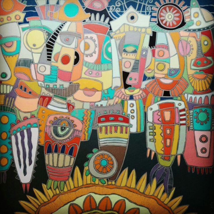 """""""Los Guardianes """" 60x80 2014"""