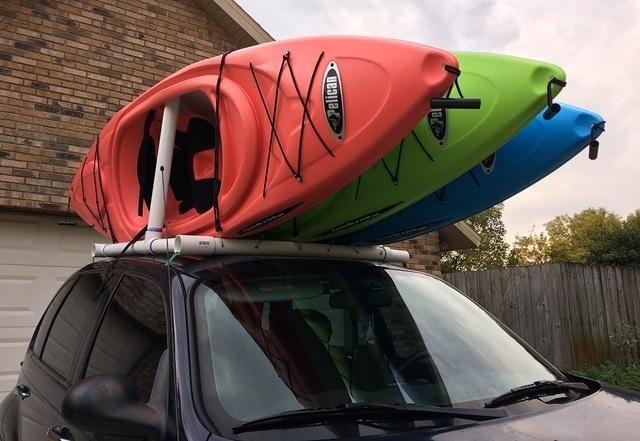 How To Make Your Own Car Top Kayak Rack Kurt S Blog Kayak Rack Kayaking Kayak Roof Rack
