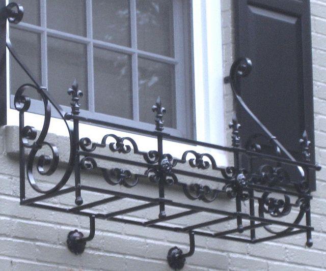 Ornate Wrought Iron Window Box | Flickr - Photo Sharing!