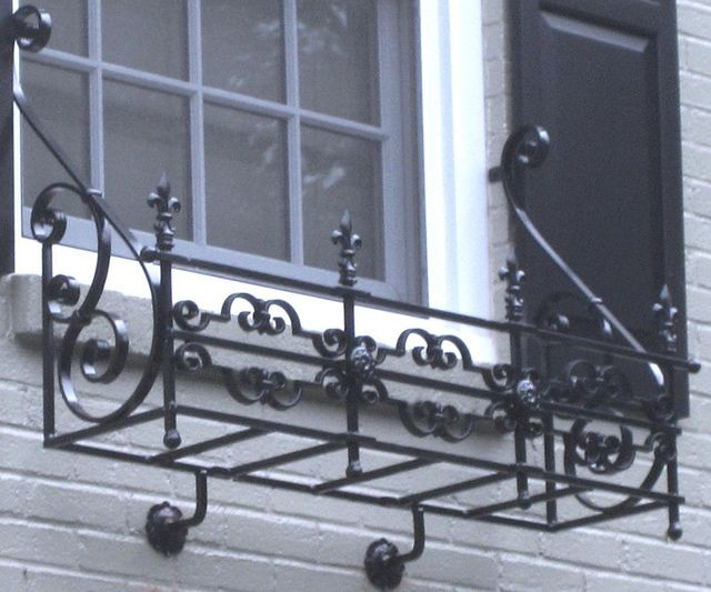 Ornate Wrought Iron Window Box by Iron Railings Pittsburgh, via Flickr