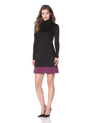 Nicole Miller Women's Ponte Knit Turtleneck Dress