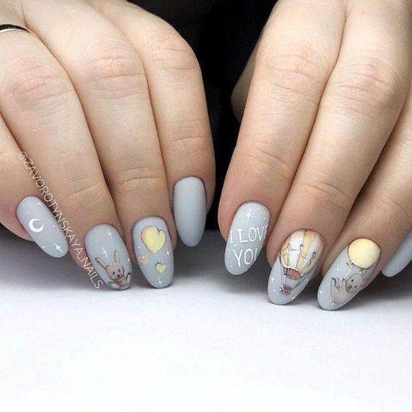 80 Easy Valentine S Day Nail Art Ideas Designs 2020 Flymeso Blog Valentines Nails Nail Designs Valentines Metallic Nails