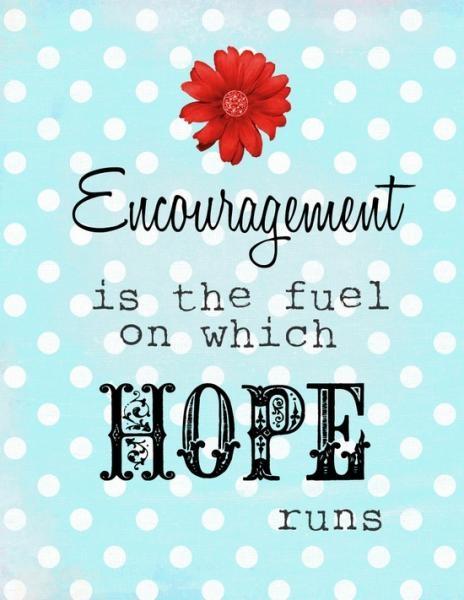 Quote on encouragement