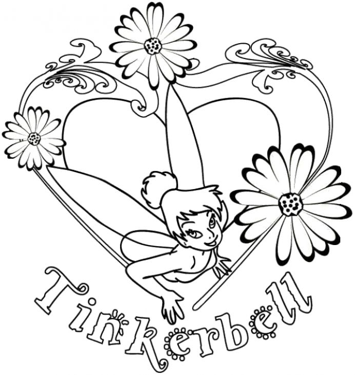 Online Tinkerbell Girls Coloring Page Printable Princess PagesFlower PagesDisney