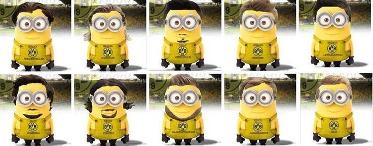 Dortmund Team ⚽ | Minion Football Players | Pinterest ...