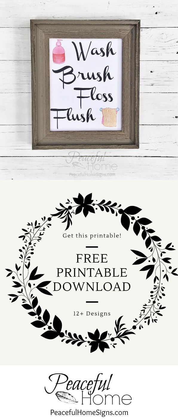 12 free printables to spruce up your decor free printable with the words wash