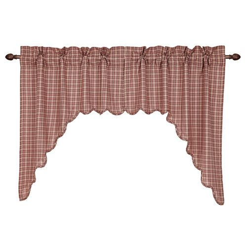 Found it at Wayfair - Independence Scalloped Swag Curtain Valance