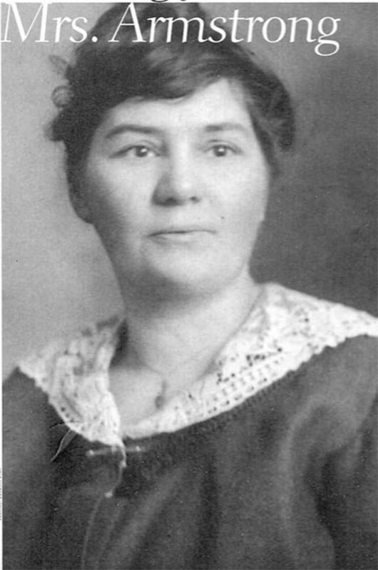 circa 1919, Helen Armstrong was a clarion voice in the Winnipeg labour movement for the plight of working girls and women. Identifying herself as a women's labour organizer, she used every means to campaign against the wage inequality and unhealthy working conditions they faced as a minority presence in the industrial work force.