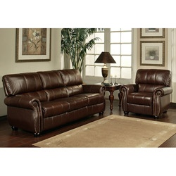 @Overstock - This luxurious Ashley leather sofa and armchair set brings the beauty of genuine, top-grain leather into your living room. The burgundy finish makes these pieces look even more sophisticated, and the no-sag cushioning ensures guests' comfort. http://www.overstock.com/Home-Garden/Abbyson-Living-Ashley-Premium-Top-grain-Leather-Sofa-and-Armchair/5608450/product.html?CID=214117 $1,659.99