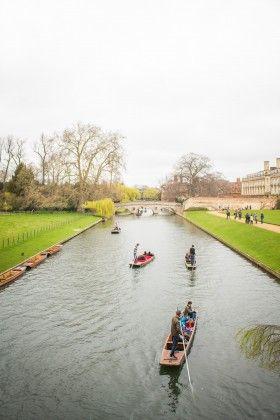 Punting in Cambridge, UK, Europe