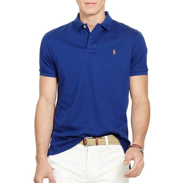 Polo Ralph Lauren Pima Soft-Touch Polo Shirt ($60) ❤ liked on Polyvore