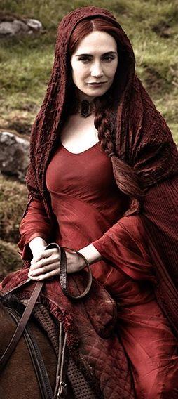 Melisandre (Carice van Houten) 'Game of Thrones' Season 2, 2012. Costume designed by Michele Clapton.