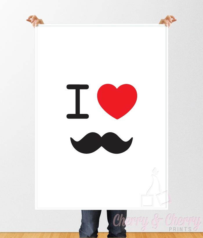 Cherry & Cherry PRINTS - Moustache Cod produs: L-033 Disponibil în toate...