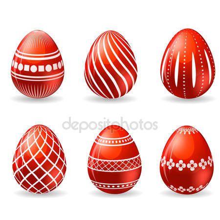 Yükle - Paskalya yumurtaları kümesi — Stok İllüstrasyon #43446175