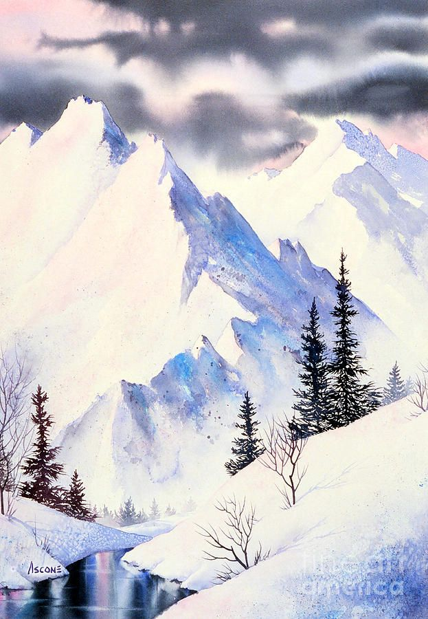 Winter Serenity Painting by Teresa Ascone - Winter Serenity Fine Art Prints and Posters for Sale