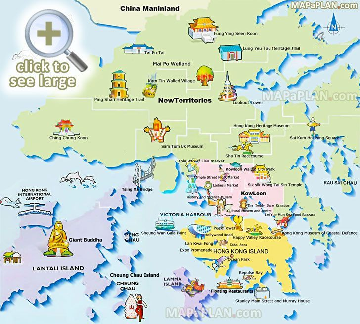 free travel guide must see places best historic destinations main sights landmarks great spots Hong Kong top tourist attractions map