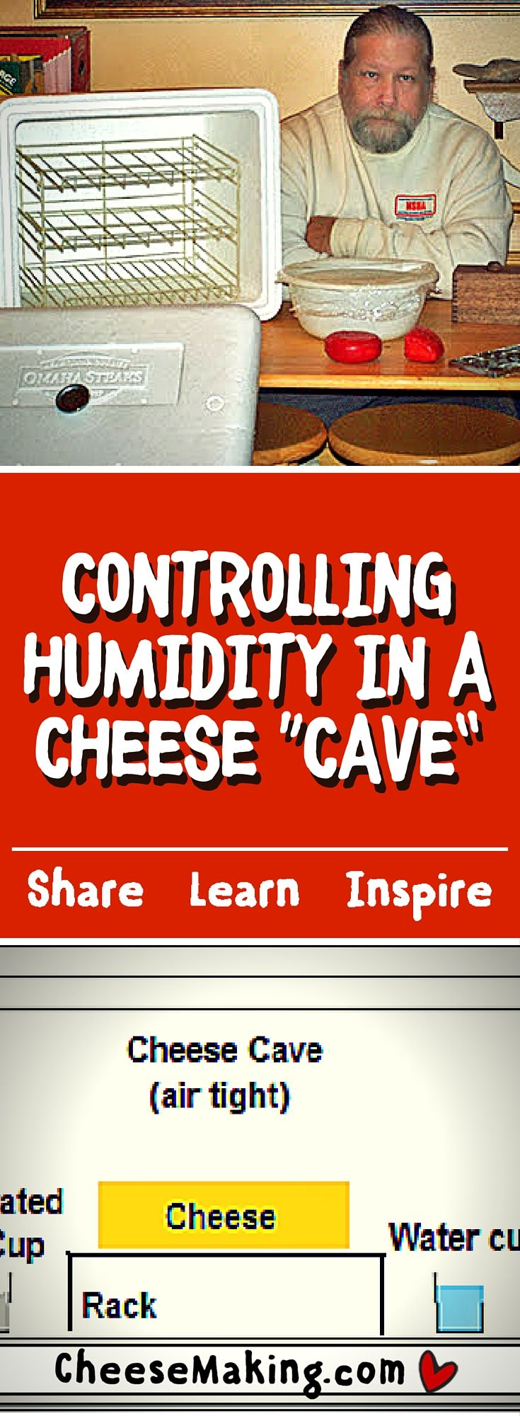 """Controlling Humidity in Your Cheese """"Cave"""""""