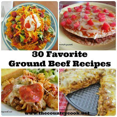 30 Favorite Ground Beef Recipes