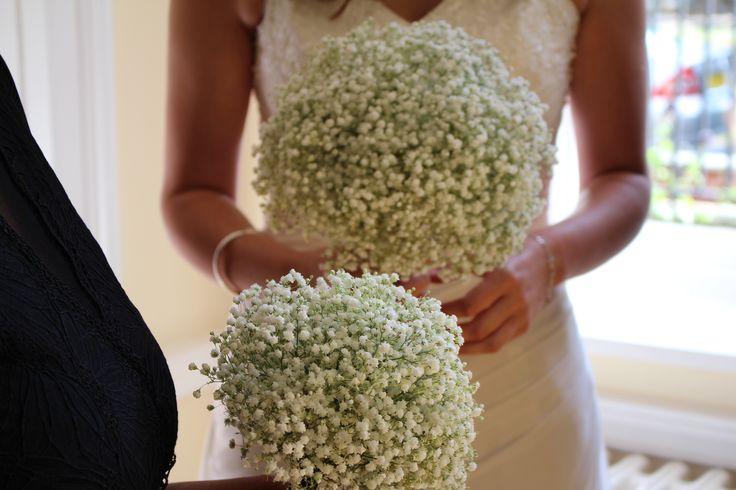 Gypsophila bouquet and posie by Bo-K Worthing #gypsophila #wedding #bouquet