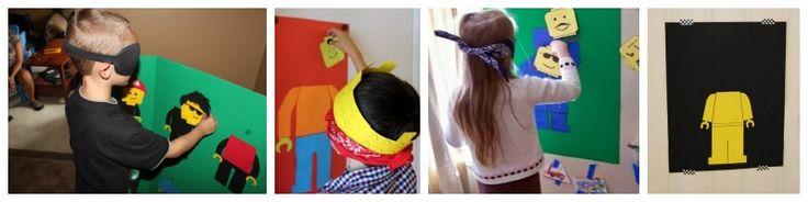 """""""Aasinhäntä"""" lego-ukolla. Jokainen yrittää laittaa pään paikoilleen. Lasten nimet kirjoitetaan päihin niin että tietää kuka pääsi lähimmäksi."""
