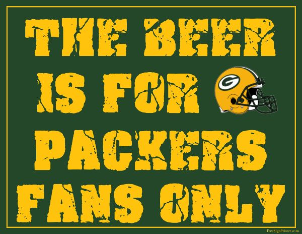 Green Bay Packers Fan Sign - Man Cave Sign