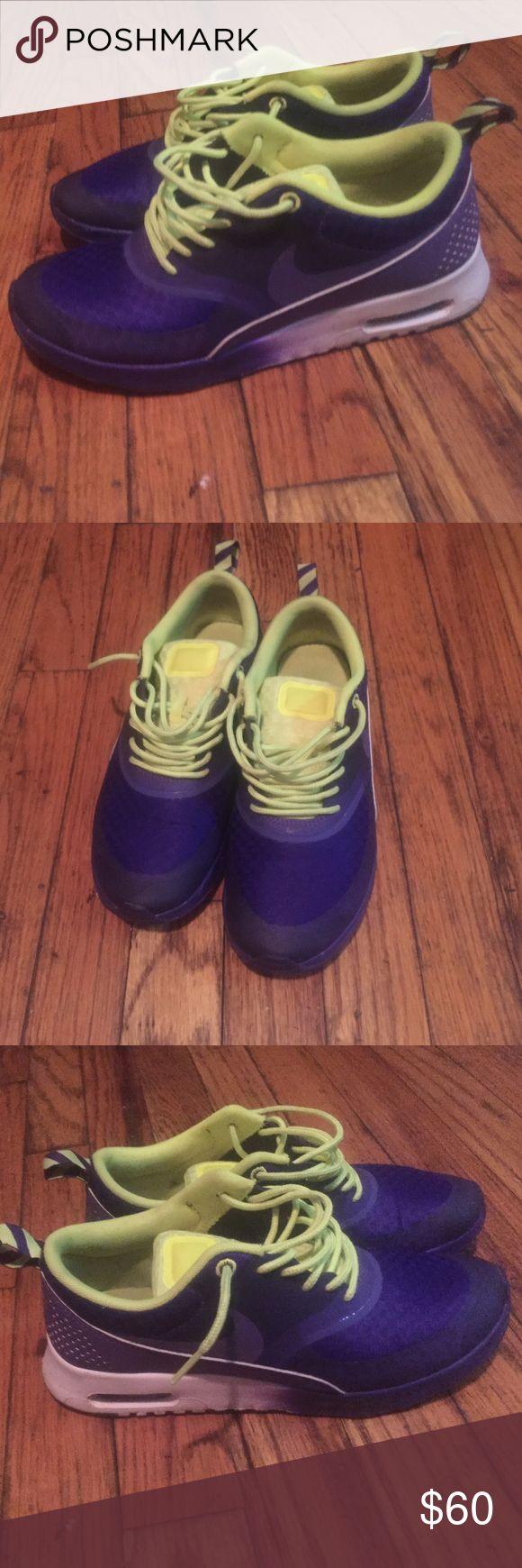 Women sneakers Nike air max Thea purple and neon Nike Shoes Sneakers