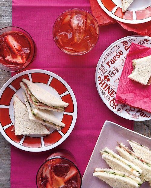 Chive Butter, Prosciutto and Cucumber Tea Sandwiches