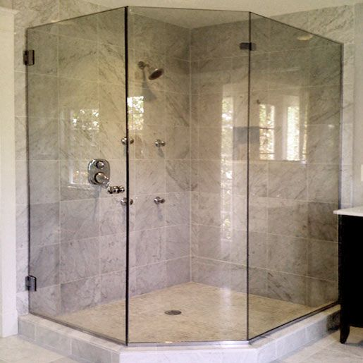 17 best images about bathroom ideas on pinterest glass for Bathroom glass door designs