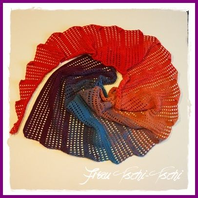 Mrs. Tschi-Tschi: A new dragon tail - scarf - instructions for free