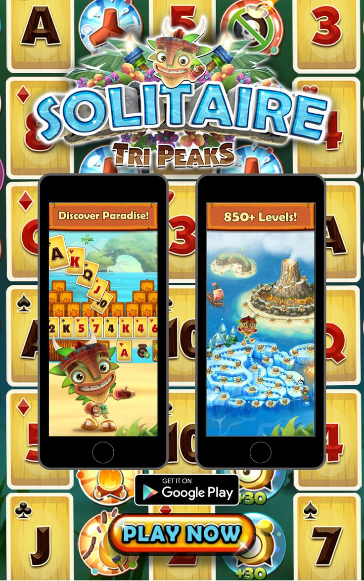 Solitaire TriPeaks takes a new spin on classic solitaire