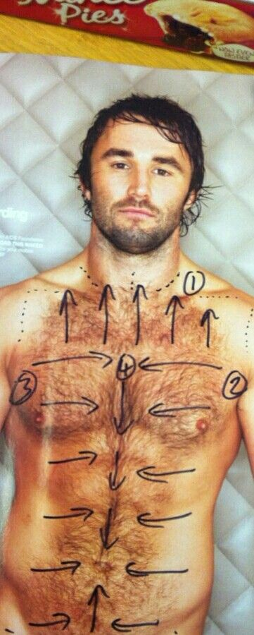 Waxing Mens Chest Direction hair Growth