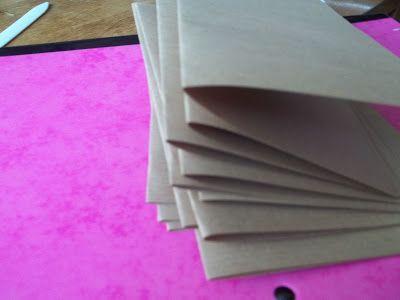 DIY Midori Traveler's Notebook Insert staple closure