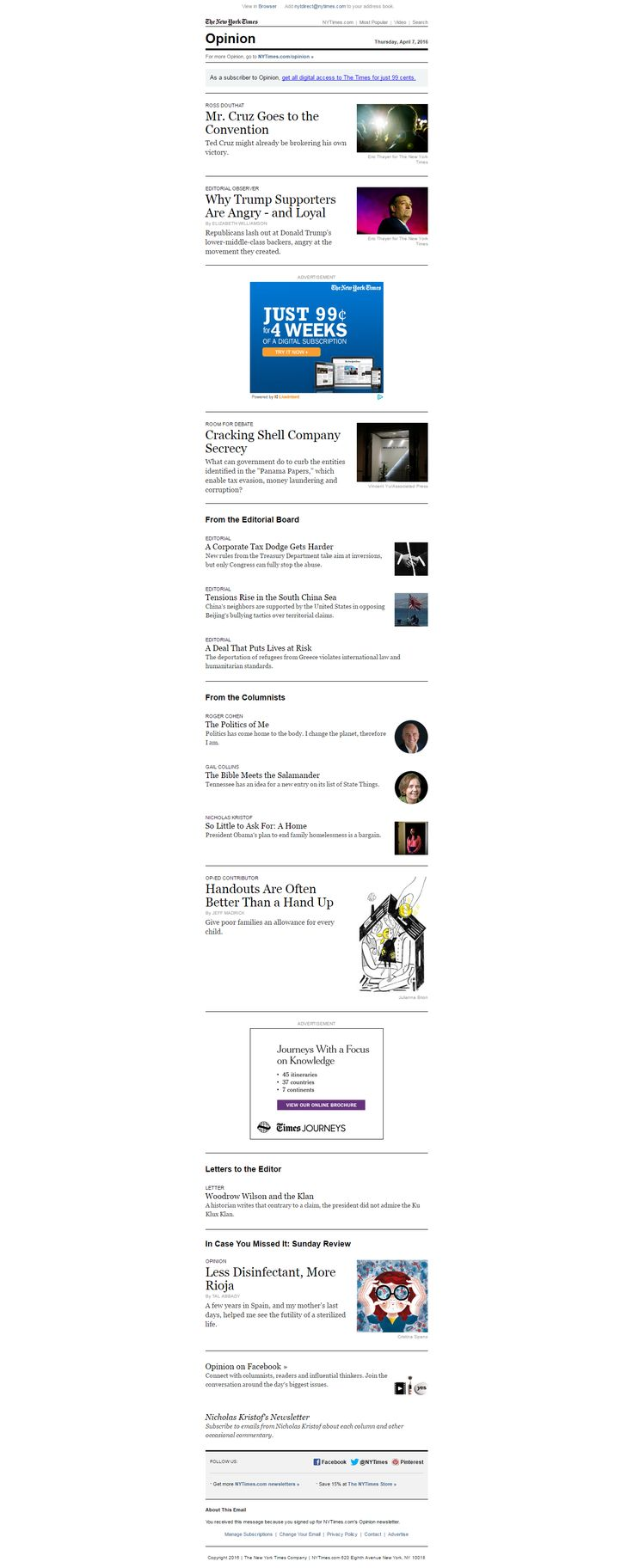 Newsletter The New York Times