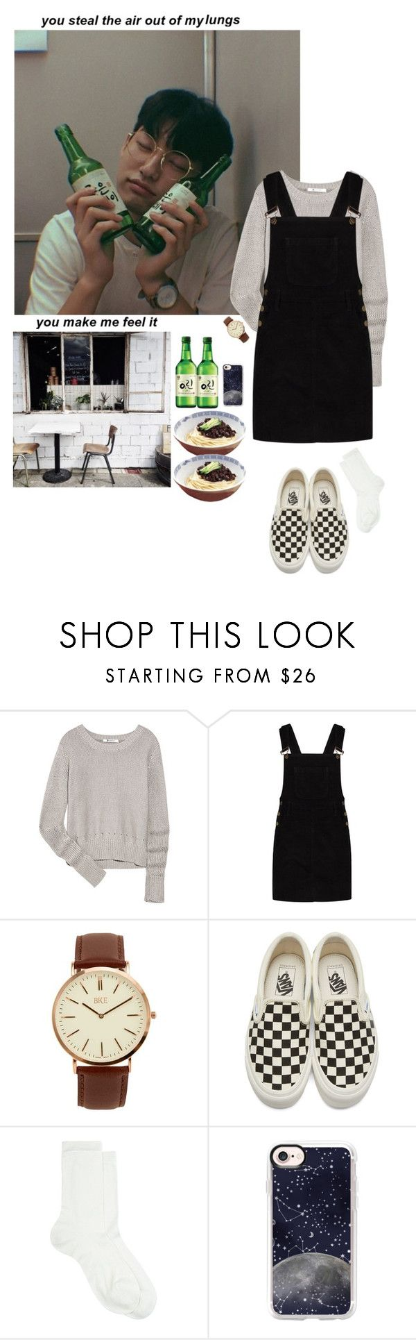 """""""Untitled #390"""" by satansoowifeu ❤ liked on Polyvore featuring T By Alexander Wang, Boohoo, BKE, Vans, Maria La Rosa and Casetify"""