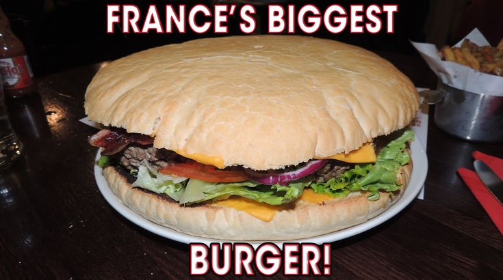 France's Biggest Burger Challenge BIEH Mega Cheeseburger   Randy Santel