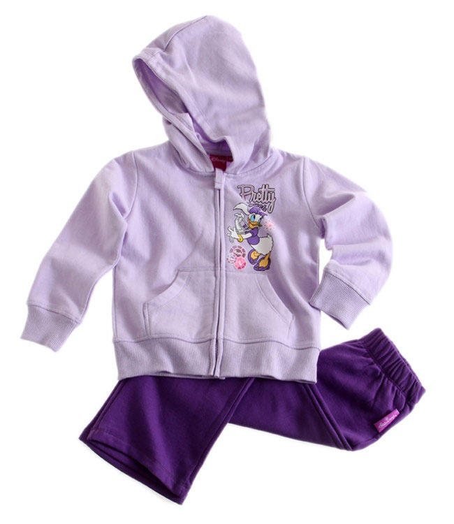 Ensemble jogging Disney Classic Daisy violet Survetement Enfant Fille par UnCadeauUnSourire.com