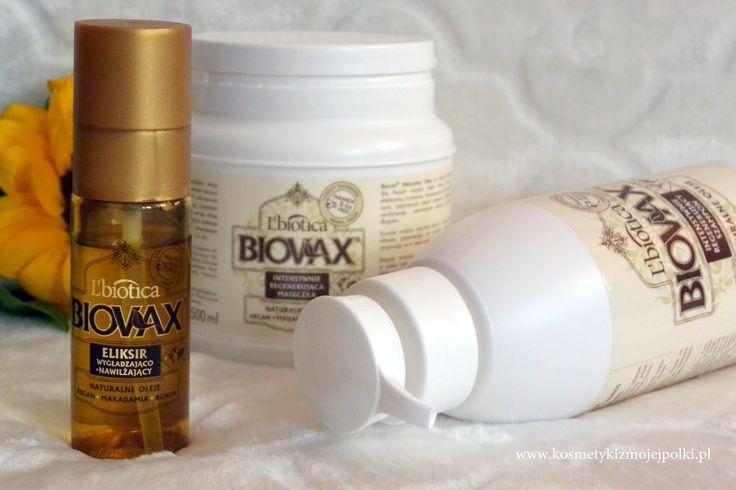 KOSMETYKI Z MOJEJ PÓŁKI: Intensywna regeneracja włosów z BIOVAX L'Biotica Naturalne Oleje Argan Makadamia Kokos