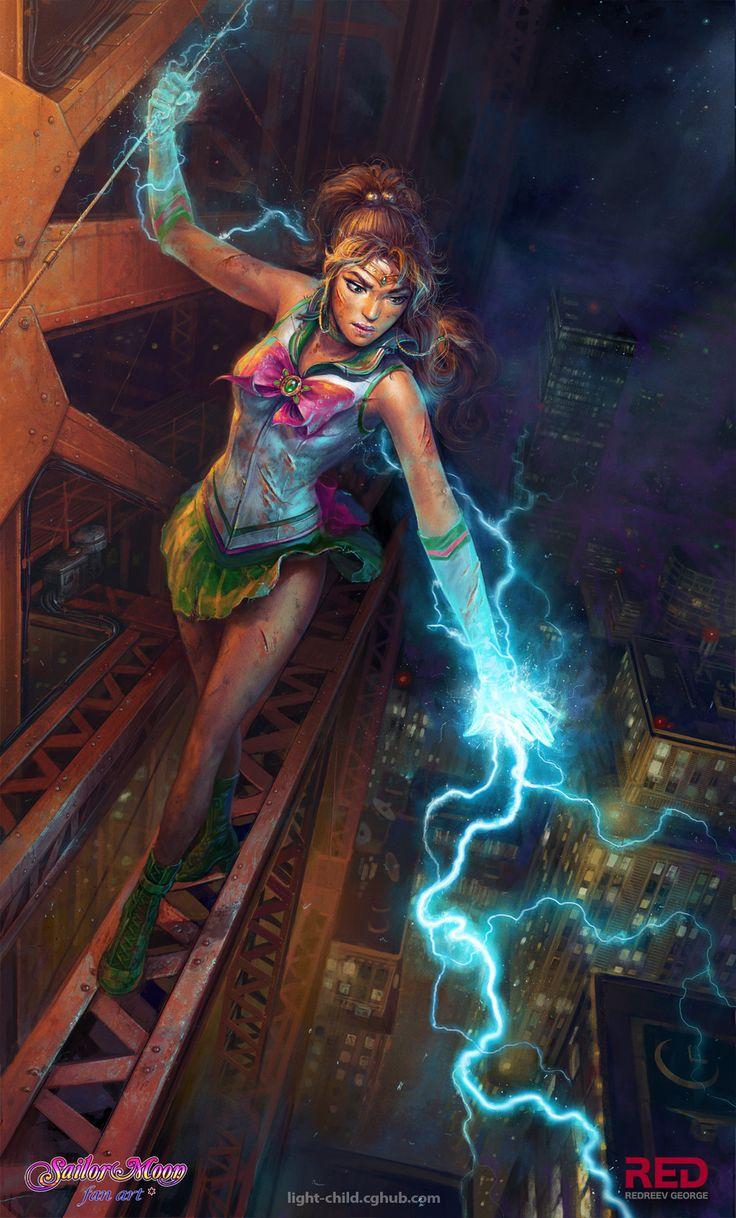 Sailor Jupiter..now that is some sic fan art!