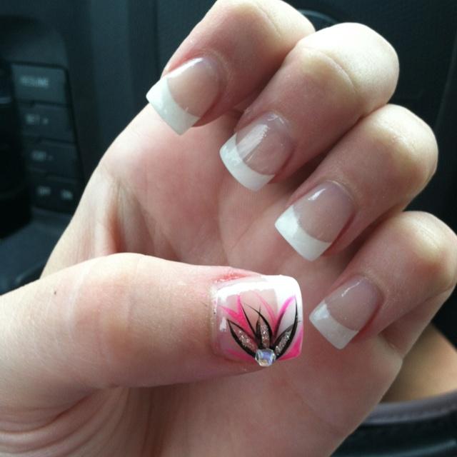 Cute Simple Acrylic Nails Tumblrprint Nice Acrylic Nail: Got My Nails Done :) #cute #summer #flower #nailpolish