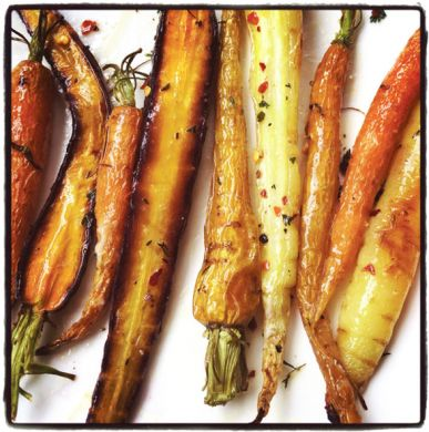 Roasted Carrots with Miso Chili Butter | Edible Feast via Edible San Francisco