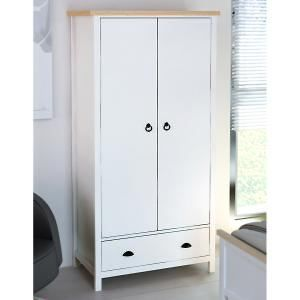 Isobel 2 Door Wardrobe with Drawer - White & Pine Look. Get marvelous discounts up to 60% Off at Deals Direct using Coupons & Promo Codes.
