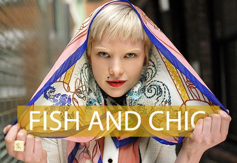 Photos of the Day: Fish and Chic – London Street Fashion