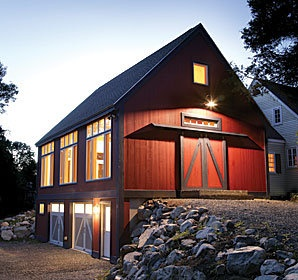 Barn with tuck under garage home exteriors pinterest Garage under house
