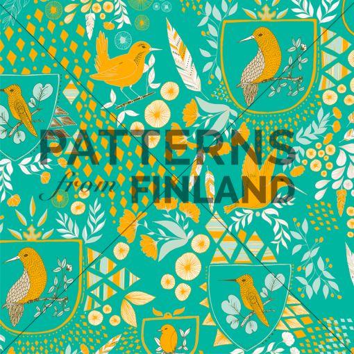 Taiga – Nothern Birds by Noora Hattunen  #patternsfromagency #patternsfromfinland #pattern #patterndesign #surfacedesign #printdesign #noorahattunen