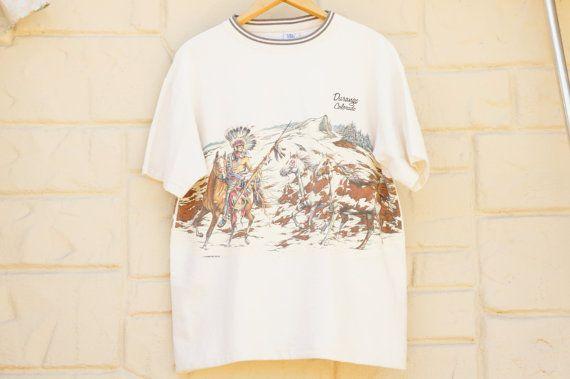 Vintage 90s Durango Colorado T-shirt Native by SycamoreVintage