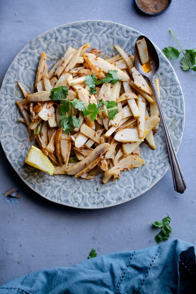 Sinfully Spicy: Stir Fried Arbi (Taro root)