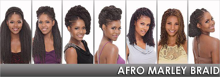 Synthetic Hair Braids Janet Collection Noir Afro Marley Braid (Twist Braid) - Samsbeauty